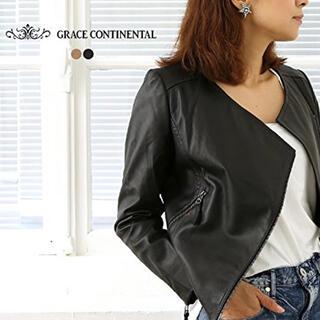 GRACE CONTINENTAL - グレースコンチネンタル サイドベルトライダースジャケット