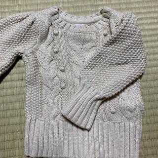 ベビーギャップ(babyGAP)のGAP baby 女の子 白ニット 70から80cm(ニット/セーター)