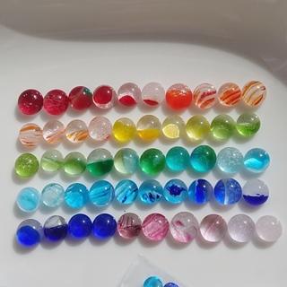 琉球ガラス ドロップス ナギット 50粒 約7~9㎜ カラフル 虹色 7