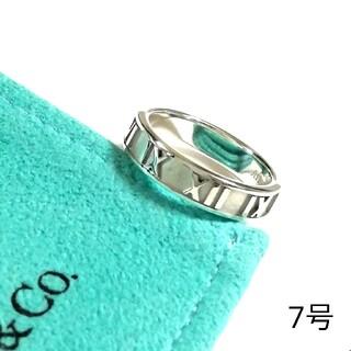 Tiffany & Co. - ティファニーアトラスリング 7号 3.8mm幅(美品)