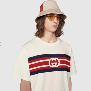 Gucci - 美品!インターロッキングG ストライプ プリント Tシャツ