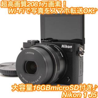 Nikon - ★カメラ女子超オススメ!!充実の自撮り+Wi-Fi機能♪☆ニコン 1 J5★