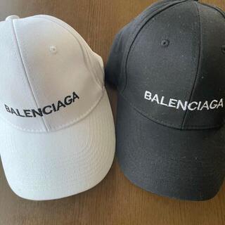 バレンシアガ(Balenciaga)の【新品】バレンシアガ キャップ 白 黒 セット(キャップ)