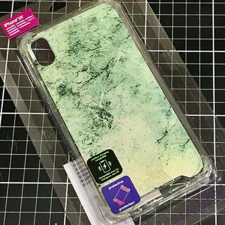 クレアーズ(claire's)の✴︎新品・未使用✴︎iPhone XR シリコンケース 大理石オーロラグリッター(iPhoneケース)