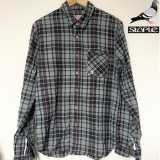 【STAPLE】 フランネルシャツ チェックシャツ ネルシャツ ステイプル