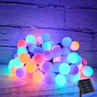 ソーラー LED ストリングライト 5 色 イルミネーションライト 小さなボール