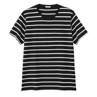 GU - GU ジーユー Tシャツ ボーダー ブラック 男女兼用
