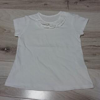 ユニクロ(UNIQLO)のユニクロ UNIQLO 100 100cm 白 ホワイト 半袖 トップス 新品(Tシャツ/カットソー)