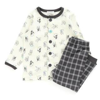 アンパサンド(ampersand)のAmpersand フレンチブルドッグ柄前開きパジャマ 100サイズ(パジャマ)