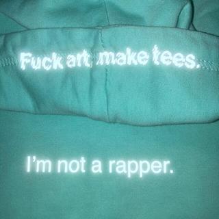 オフホワイト(OFF-WHITE)のFuck Art Make Tees I'mnot rapper Hoodie(パーカー)