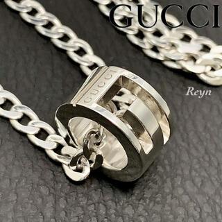 Gucci - [新品仕上済] GUCCI シルバー 925 喜平 Gリング ネックレス