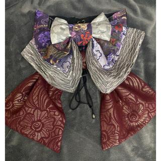 ハロウィンにピッタリ 和装 パンク 和ゴシック 帯風コルセット(衣装)