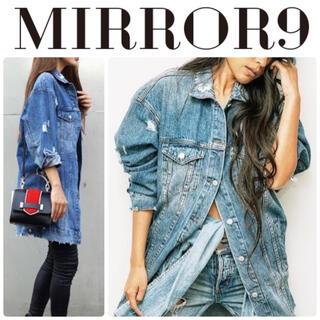 ミラーナイン mirror9 ダメージ デニムジャケット ロング丈
