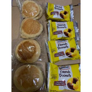 コストコ - コストコミニパンケーキ4袋(1袋2枚入り) とサンミッシェルフレンチドーナツ4個