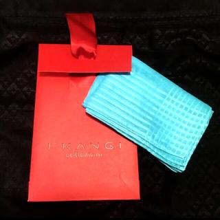未使用 イタリア TieRack タイラック スカーフ ブルー グリーン 紙袋
