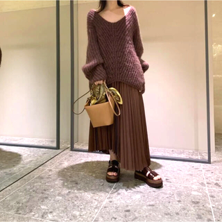 FRAY I.D - FRAY I.D アシメヘムラインプリーツスカート