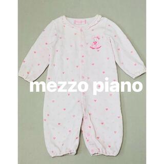 メゾピアノ(mezzo piano)のメゾピアノ mezzo piano 長袖 ロンパース 美品(ロンパース)