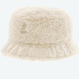 バケットハット ボア 帽子ディズニーランドディズニーシーバケットハット帽子白ボア