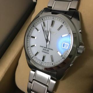 セイコー(SEIKO)の美品! 良品  セイコー メンズ 電波ソーラー スピリットスマート チタン GS(腕時計(アナログ))