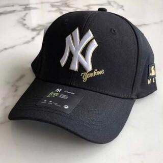 ニューエラー(NEW ERA)の新品ブラック MLB  メジャーリーグベースボール キャップ 韓国ファッション(キャップ)
