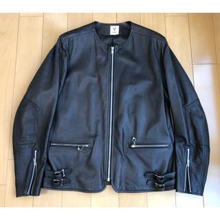 サイ(Scye)のDistrict 別注 Scye No Collar Biker Jacket(ライダースジャケット)