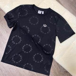 adidas - アディダス 黒 半袖Tシャツ レディース Mサイズ