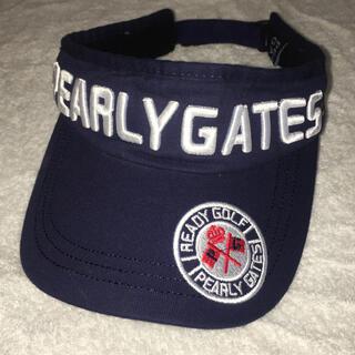 PEARLY GATES - パーリーゲイツ サンバイザー  紺色
