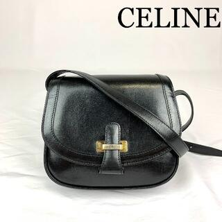 celine - CELINE ロゴ金具 レザー ショルダーバッグ