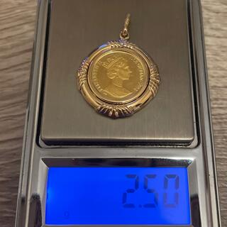 美品1点物 24金 エリザベスコイン 総重量約2.5g 金貨 1/25oz