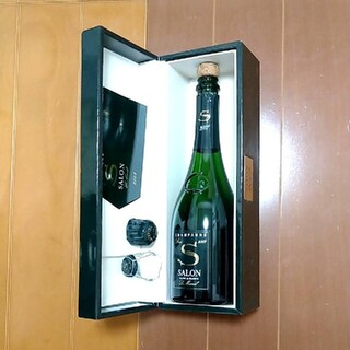 SALON - SALON サロン 2007年高級シャンパン 空瓶 コルク 箱 セット