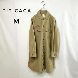 titicaca - TITICACA 刺繍シャツワンピース M ジャケット ロング コート カーキ