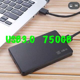 東芝 - 東芝 750GB HDD USB3.0 外付 ポータブル ハードディスク 2.5