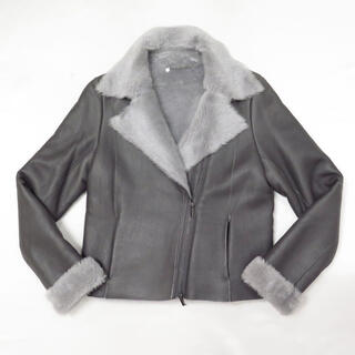 ANTEPRIMA - 定価23万 アンテプリマ リアル ムートン レザー ライダース ジャケット 羊革
