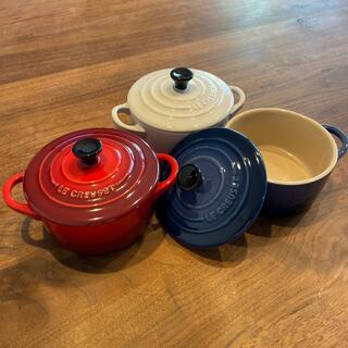 LE CREUSET - LE CREUSET グラタン皿 鍋型 蓋付き