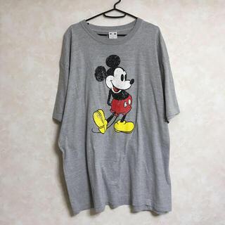 エックスガール(X-girl)のx-girl   エックスガール ミッキー ビッグTシャツ グレー(Tシャツ(半袖/袖なし))