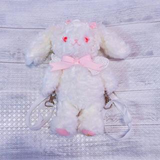 BABY,THE STARS SHINE BRIGHT - うさくみゃリュックミニミニ/オフ白×ピンク