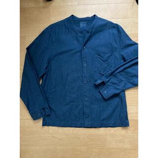 ムジルシリョウヒン(MUJI (無印良品))の無印 ノーカラーカットソー L 長袖シャツ(Tシャツ/カットソー(七分/長袖))