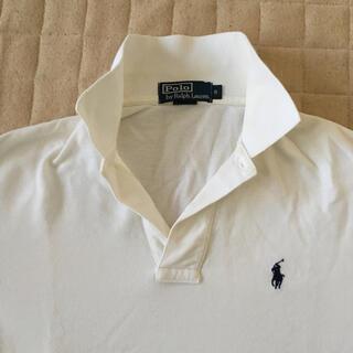 POLO RALPH LAUREN - ポロラルフローレン 長袖ポロシャツホワイトワンポイント刺繍 サイズS