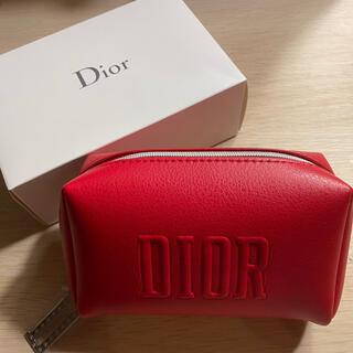 Dior - ディオール ノベルティ ポーチ レッド Dチャーム  箱なし