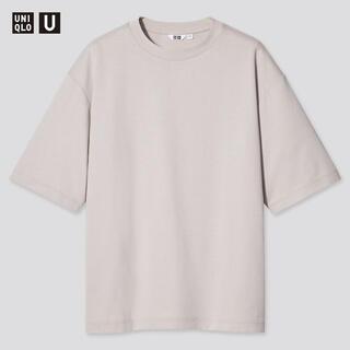 UNIQLO - 【新品】ユニクロU エアリズムコットンオーバーサイズTシャツ ライトグレー XL