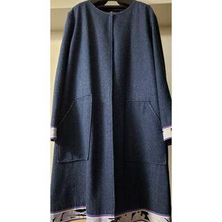 レオナール(LEONARD)の☆極美品☆ レオナール シルクコート 大きいサイズ42(スプリングコート)