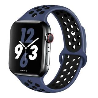 Apple Watch スポーツ バンド 42/44mm ネイビー/ブラック