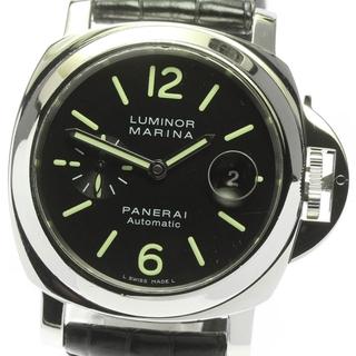 パネライ(PANERAI)のパネライ ルミノールマリーナ デイト PAM00104 メンズ 【中古】(腕時計(アナログ))