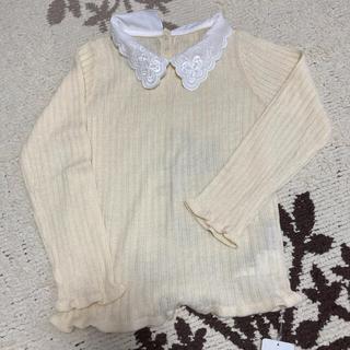 アクシーズファム(axes femme)の新品 襟付きニット 生成り 130(Tシャツ/カットソー)