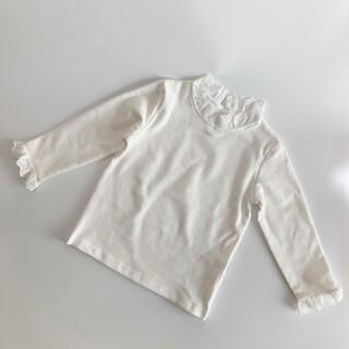 韓国子供服 襟レース カットソー 100
