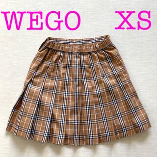 ウィゴー(WEGO)のWEGO プリーツチェックスカート XS(ミニスカート)