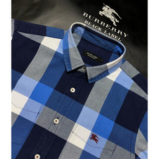 BURBERRY - 一回着用【超美品】バーバリーブラックレーベル 7分袖シャツ2