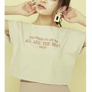 リゼクシー(RESEXXY)のリゼクシー ロゴ刺繍ボートネックTシャツ(Tシャツ(半袖/袖なし))
