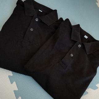 UNIQLO - 美品ユニクロ 黒ポロシャツ2枚セット
