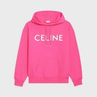 セリーヌ(celine)のCELINE ルーズ スウェットシャツ / コットンフリース ホットピンク / (パーカー)
